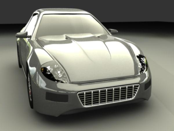3d fiersto sport car