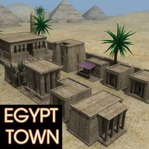 3ds max egypt town temples pyramids