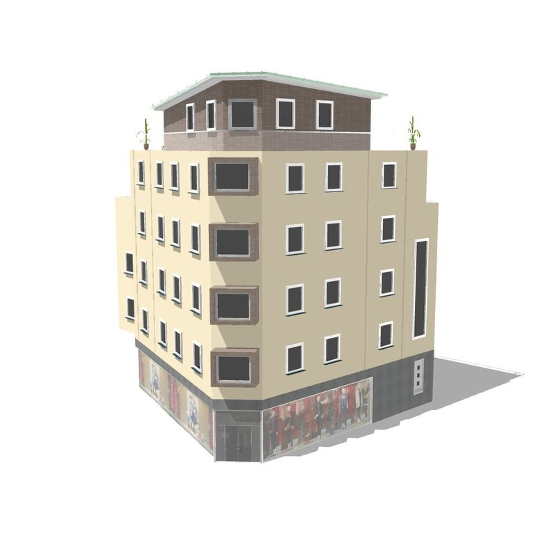 house building 3d obj