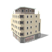 house building 3d obj