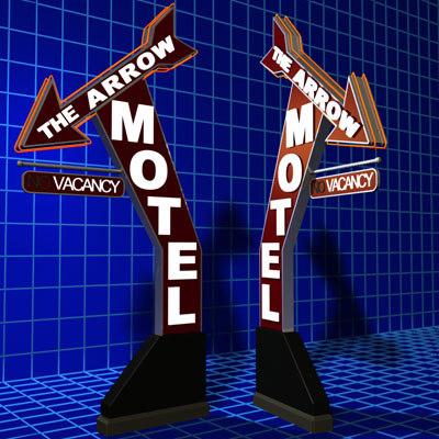 3d arrow motel sign 01 model