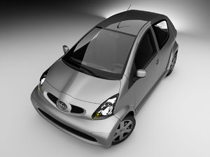 toyota aygo city car 3d model