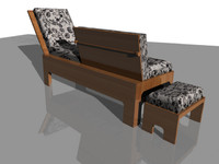 free daybed 3d model