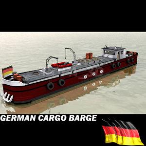 3d model barge boat transport