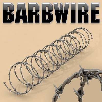 barbwire barbed wire 3d 3ds