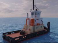 3d tugboat boat avik