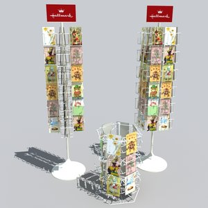 3ds greeting card racks