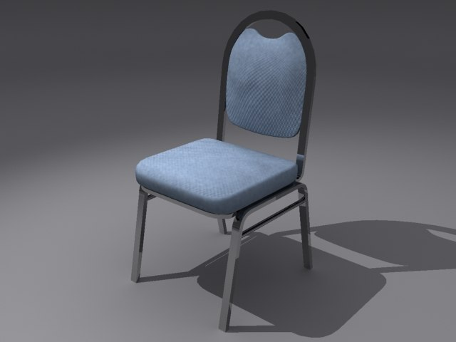 3d model chair seating