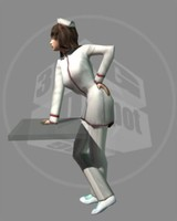 female nurse 3ds