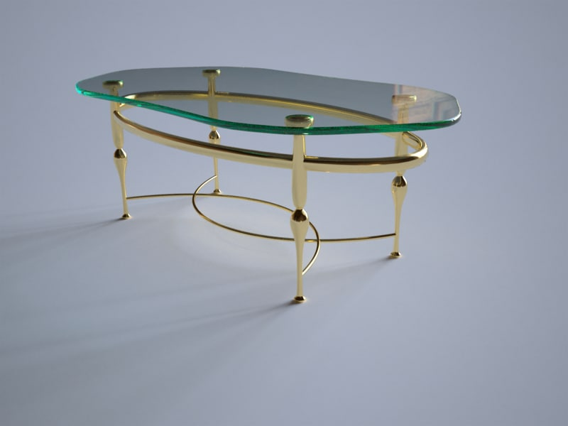 dxf glass coffee table