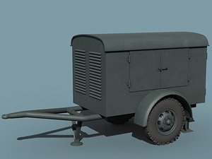 v-2 rocket support vehicle 3d model