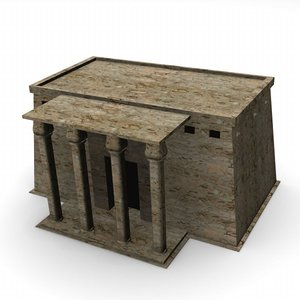 3d model egyptian house