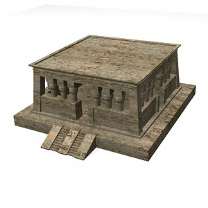 3ds max egyptian house