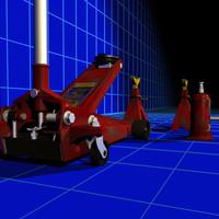 floor jacks 01 3d model