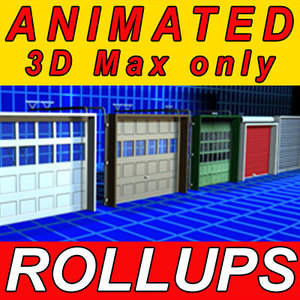 3ds max garage rollup doors animation