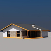 3ds max house