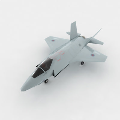 3d f-35 fighter jet jsf model