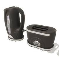 3d kettle toaster set