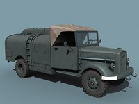 3dsmax v-2 rocket support vehicle
