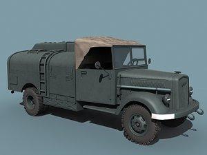 3dsmax v-2 rocket support vehicle