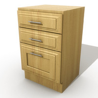 3d kitchen drawers