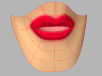3d female lips