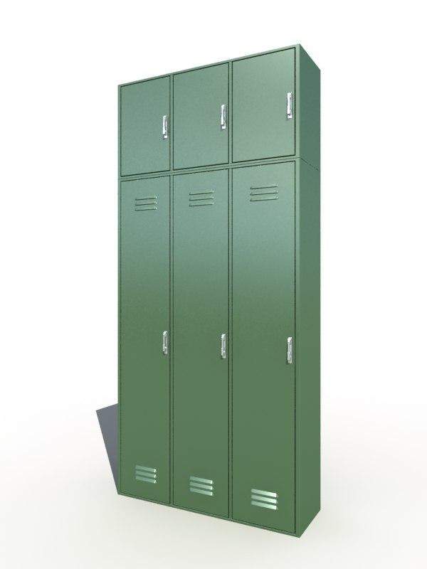 3d lockers cabinet model