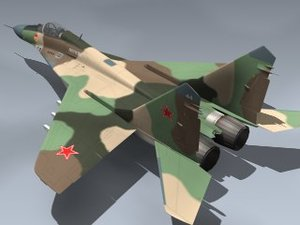 mig-29a fulcrum ussr fighter 3d 3ds