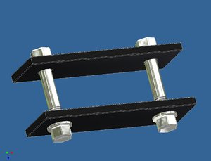 free mopar clamp 3d model