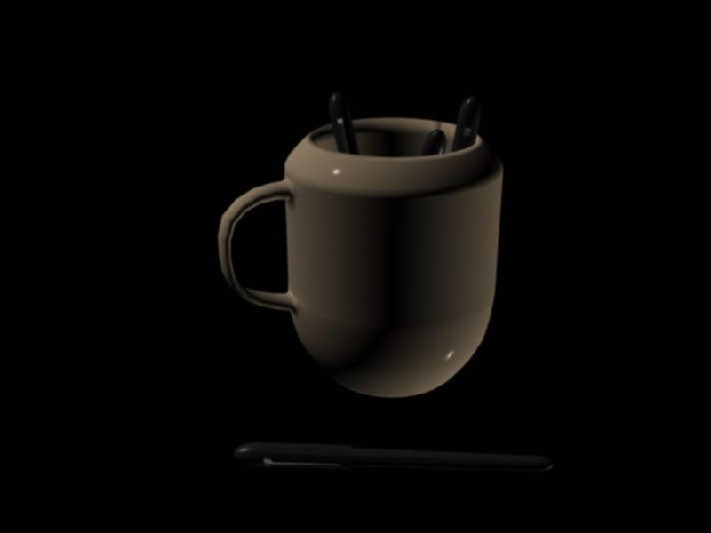 free mug pens 3d model