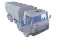 3d kamaz truck model