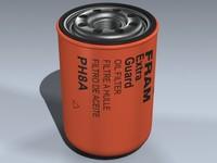 oil filter 3d model