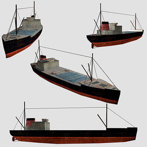 3d 3ds oil tanker old