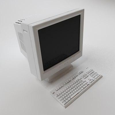 3d keyboard crt monitor