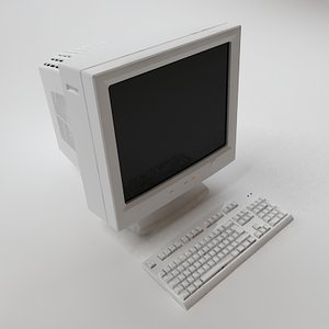 3d keyboard crt monitor