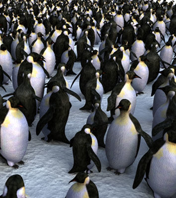 penguin 3d lwo