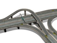 3d highway t-junction model