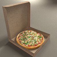 3ds max midpoly pizzas