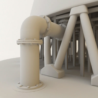 water cooling tower 3d model