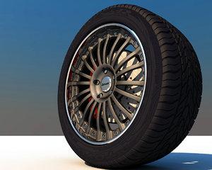 rim wheel c4d
