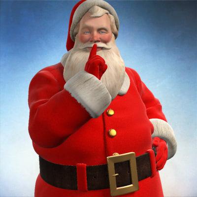 santa claus saint christ 3d ma