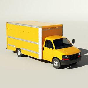 delivery van american 3d max