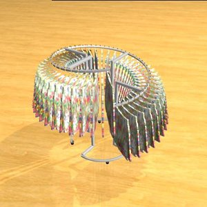 spiral clothes rack 3ds