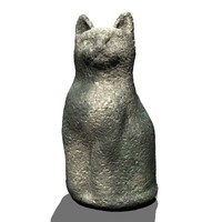 3d cat ornament garden