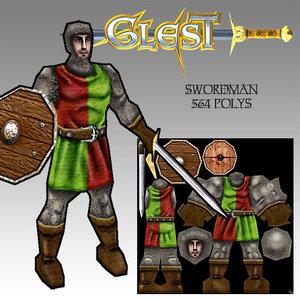 swordman warrior character max free