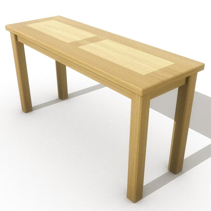 3d hall table