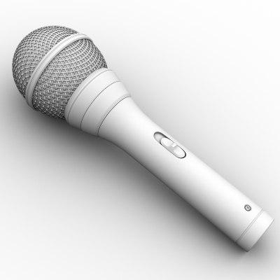 micro mic microphone obj