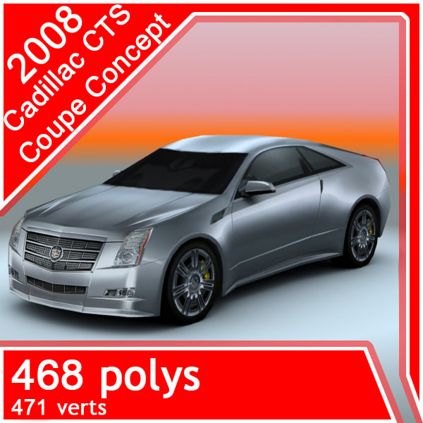 2008 cadillac-cts coupe concept 3d 3ds