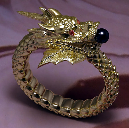 dragon wedding ring ring jewelry 3ds 3678
