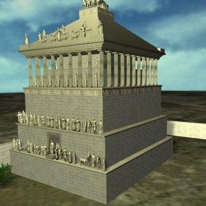 bodrum mausoleion monument 3d model